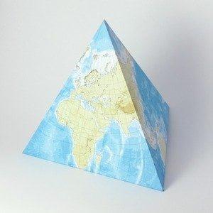 Карта мира на тетраэдре